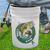 Sit 'N Fish Personalized Bucket Cooler