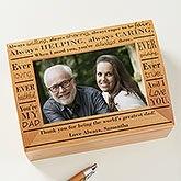 Personalized Photo Keepsake Box - Definition of Dad - 11920