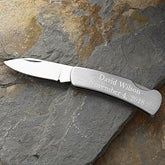 Personalized Stainless Steel Pocket Knife - 11925