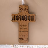 Personalized Wood Baby Cross - Bless This Child - 11932