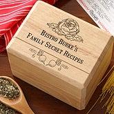 Personalized Recipe Card Box - Bon Appetit - 11948