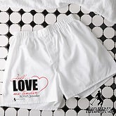 Personalized Boxer Shorts - Love Me Tender - 11949
