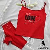 Personalized Elvis Camisole & Underwear - Love Me Tender - 11950