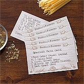 Personalized Recipe Cards - Bon Appetit - 11951