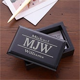 Personalized Business Card Holder - Marble - 11956