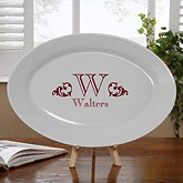 Personalized Serving Platters - Family Name & Monogram - 11960