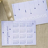 Holiday Greetings Personalized Christmas Calendar