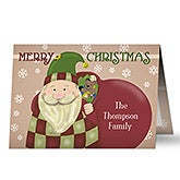 Personalized Christmas Cards - Here Comes Santa - 11967