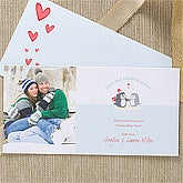 Personalized Digital Photo Holiday Postcards - Warm & Cozy - 11995