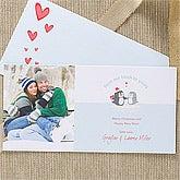 Personalized Digital Photo Holiday Postcards - Warm & Cozy - 11995