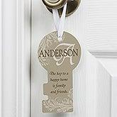 Personalized Door Knob Hanger - Happy Home - 12002