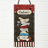 Personalized Kitchen Wall Slate - Family Bistro - 12019