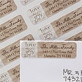 Personalized Return Address Labels - Love, Hop, Joy, Peace - 12020