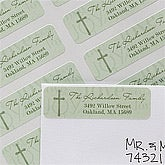 Personalized Christmas Address Labels - Holiday Joy Cross - 12023