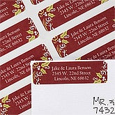 Personalized Return Address Labels - Christmas Holly - 12024