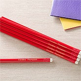 Personalized Red 12pc Pencil Set