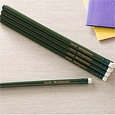 Personalized Green 12pc Pencil Set