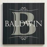 Personalized Canvas Art - Elegant Monogram - 12033