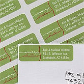 Personalized Return Address Labels - Merry Christmas - 12040