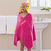 Personalized Girls Hooded Bath Towel - Princess - 12057