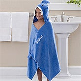 Personalized Boys Hooded Bath Towel - Shark - 12058