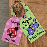 Personalized Door Knob Hanger for Girls Bedroom - 12060
