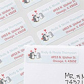 Personalized Penguin Return Address Labels - 12061