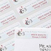 Personalized Penguin Return Address Labels - 12061