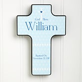 Personalized Nursery Wall Cross - God Bless Baby - 12077