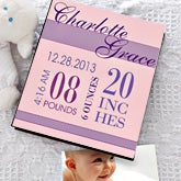 Personalized Baby Girl Photo Album - Baby's Birth - 12079