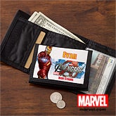 Personalized Avengers Kids Wallet - Iron Man, Hulk, Captain America, Thor - 12093