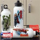 Personalized Avengers Water Bottle - Iron Man, Hulk, Captain America, Thor - 12095