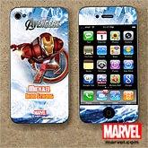 Personalized Avengers iPhone Skin - Iron Man, Hulk, Captain America, Thor - 12099