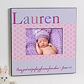 Personalized Baby Girl Picture Frames - Just for Them - 12107