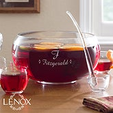 Personalized Punch Bowl Set - Family Celebration - 12111