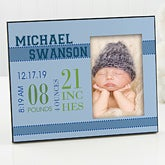 Personalized Baby Picture Frame for Boys - Baby's Birth - 12112