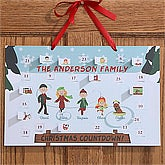 Personalized Christmas Countdown Calendar - Ice Skating Family - 12114