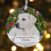 Personalized Pet Memorial Photo Christmas Ornament - 12126