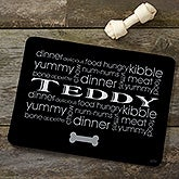 Personalized Dog Food Mat - Doggie Delights - 12127