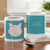 Personalized Coffee Mugs - I Love My Cat - 12136