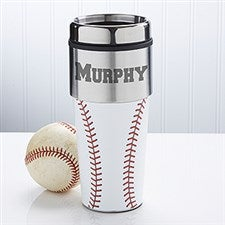 Personalized Baseball Travel Mug - 12139