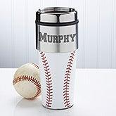 Personalized Baseball Travel Mug - 12139