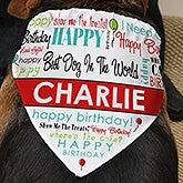 Personalized Dog Bandana - Happy Birthday - 12142