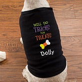 Personalized Halloween Dog Shirts - Tricks for Treats - 12143