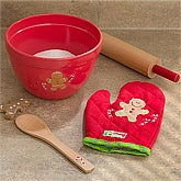 Personalized Kids Baking Set - Gingerbread Cookies - 12147