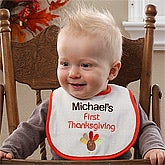 Personalized Baby's First Thanksgiving Bib - 12148