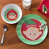 Personalized Kids Dinnerware - Christmas Characters - 12151D