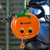Personalized Ornaments - Halloween Pumpkin - 12152