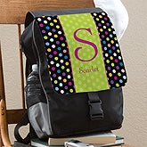 Personalized Girls Backpack - Polka Dots - 12169