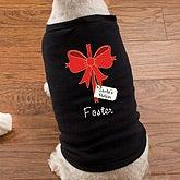 Personalized Christmas Dog Shirts - Christmas Bow - 12171